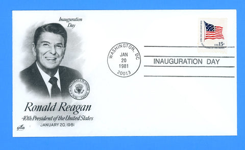 Ronald Reagan Inauguration Day January 20, 1981 by Artcraft
