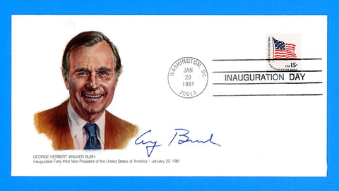 George H.W. Bush Vice Presidential Inauguration Day January 20, 1981 by Fleetwood