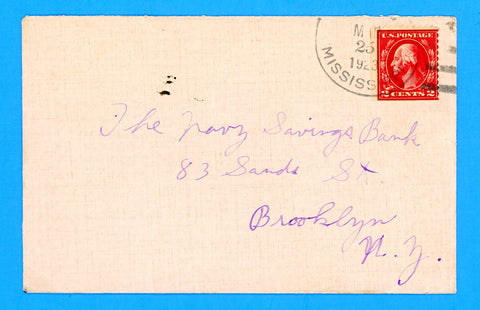 USS Mississippi BB-41 Sailor's Mail (March, May?) 25, 1923