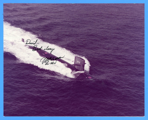 "USS Bluefish SSN-675 8 x 10"" Photograph - Commander Signed"