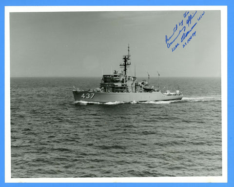 "USS Enhance MSO-437 8 x 10"" Photograph - Commander Signed"