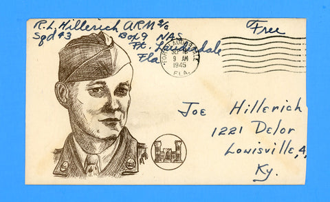 "Huss Patriotic (Goff as Artist) Soldier's ""Free"" Mail September 16, 1945"