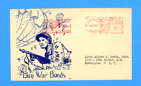 "Huss Patriotic (Goff Artist) ""Buy War Bonds"" June 17, 1945"