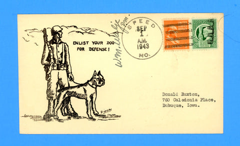 "Huss Patriotic (Diana as Artist) ""Enlist Your Dog For Defense"" September 1, 1943"