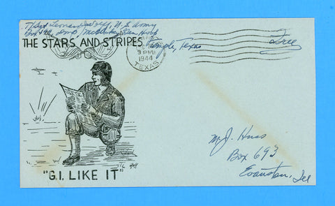 "Huss Patriotic (Goff as Artist) ""G.I. Like It"" ""Free"" Mail December 20, 1944"