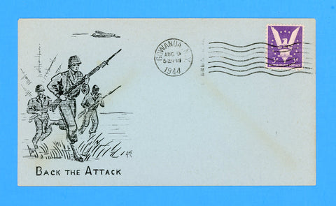 "Huss Patriotic (Goff as Artist) ""Back the Attack"" August 9, 1944"