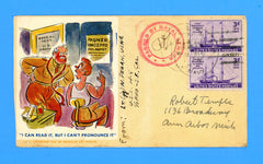 American Art Service Patriotic U.S.A.T. H-4 Sailor's Mail USNR Censored Mail October 1, 1944 with Letter