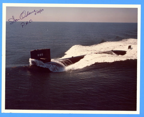 "USS William H. Bates SSN-680 8 x 10"" Photograph - Public Affairs Officer Signed"
