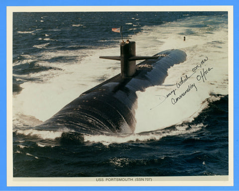 "USS Portsmouth SSN-707 8 x 10"" Photograph - Commander Signed"