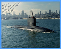 "USS Blueback SS-581 8 x 10"" Photograph - Commander Signed"