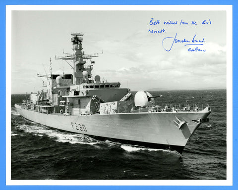 "HMS Norfolk F230 8 x 10"" Photograph - CO Signed"