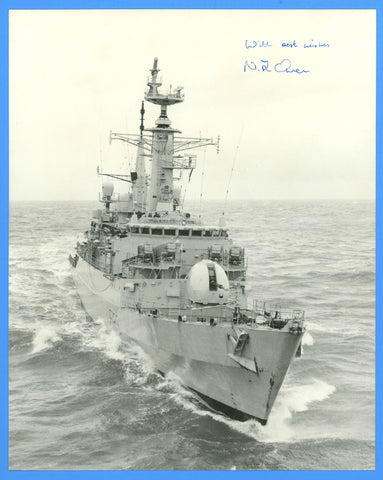 "HMS Avenger F185 8 x 10"" Photograph - CO Signed"