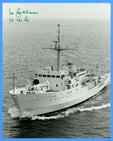 "HMS Bulldog A317 8 x 10"" Photograph - Commander Signed"