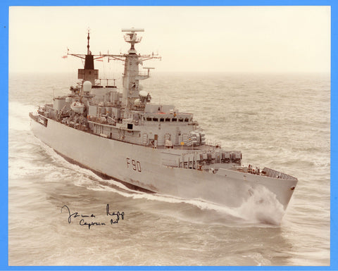 "HMS Brilliant F90 8 x 10"" Photograph - Commander Signed"