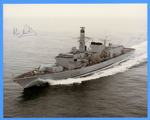 "HMS Monmouth F235 8 x 10"" Photograph - Commander Signed"