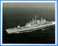 "HMS Manchester D95 8 x 10"" Photograph - Commander Signed"