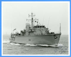 "HMS Middleton M34 8 x 10"" Photograph - Commander Signed"