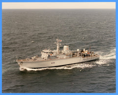 "HMS Atherstone M38 8 x 10"" Photograph - Commander Signed"