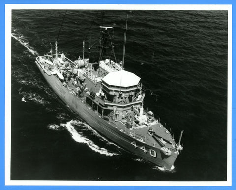 "USS Exploit MSO-440 8 x 10"" Photograph - Commander Signed on Back"