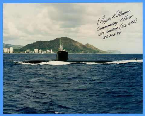 "USS Omaha SSN-692 8 x 10"" Photograph - Commander Signed"