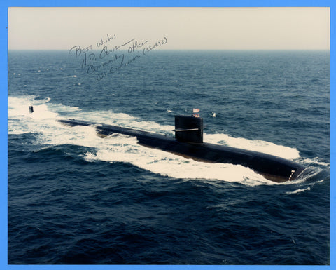 "USS Cincinnati SSN-693 8 x 10"" Photograph - Commander Signed"