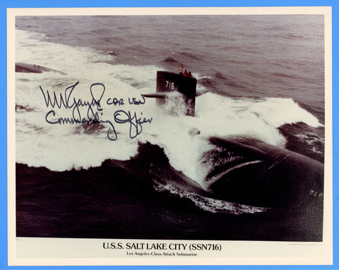 "USS Salt Lake City SSN-716 8 x 10"" Photograph - Commander Signed"
