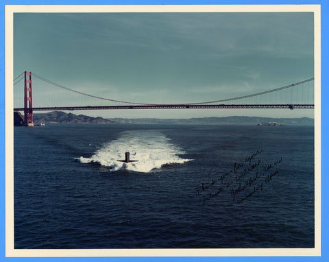"USS Gurnard SSN-662 8 x 10"" Photograph - Commander Signed"