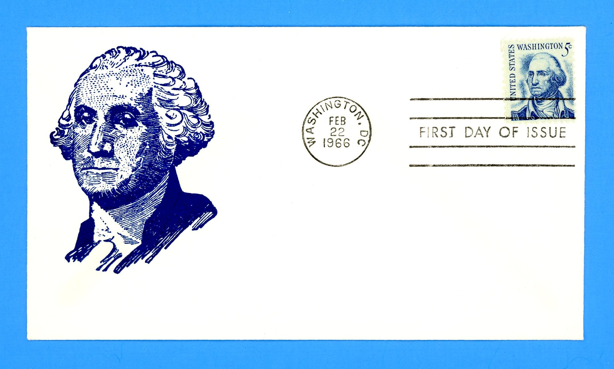Scott 1283 5c George Washington Silk Screen First Day Cover by Eric Lewis - Very Scarce - Only Thirteen Known Copies