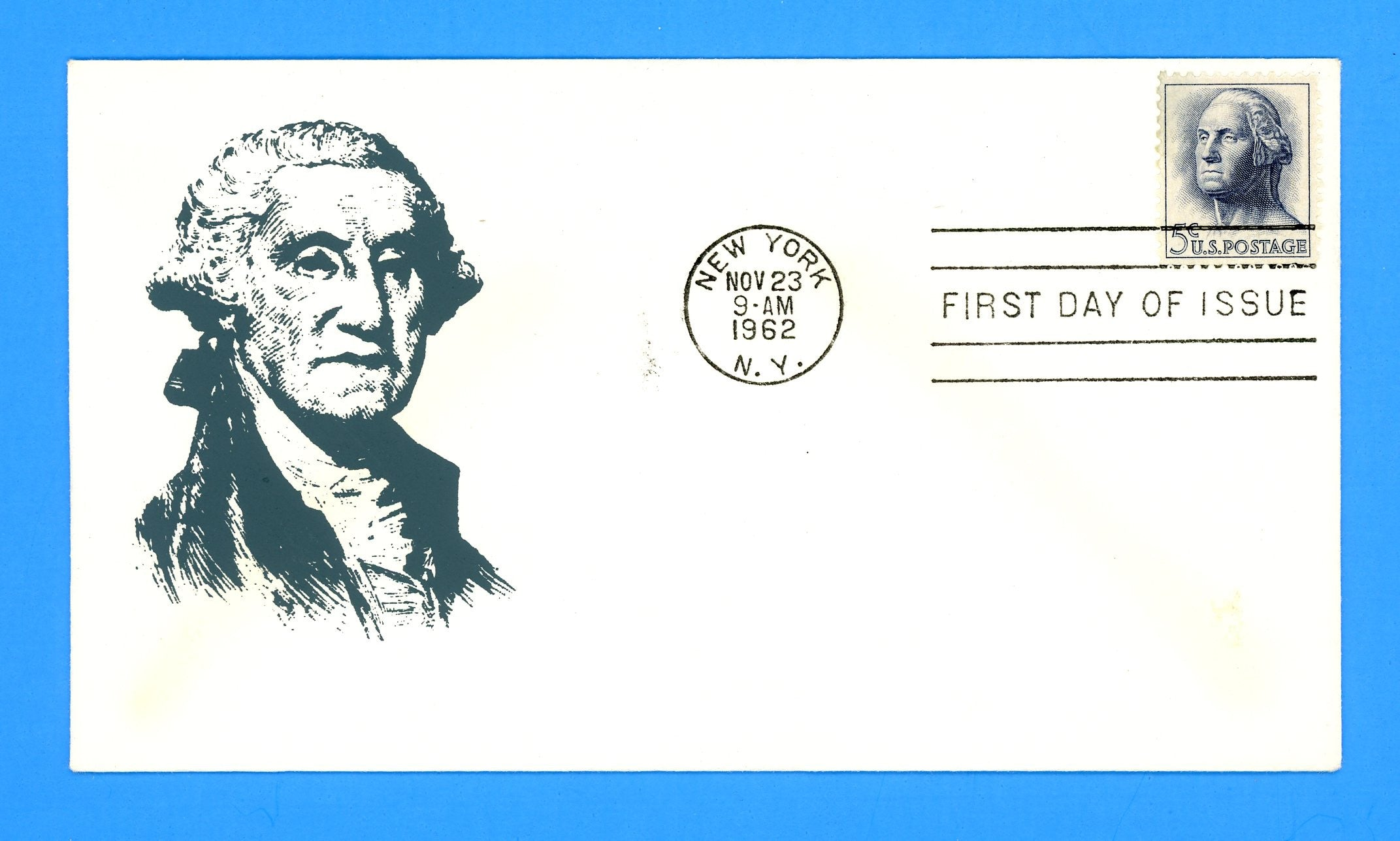 Scott 1213 5c George Washington Silk Screen First Day Cover by Eric Lewis - Very Scarce - Only Eleven Known Copies