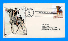 Scott 2818 Buffalo Soldiers First Day Cover by A.C.E. #247 - Dallas, TX First Day Cancel