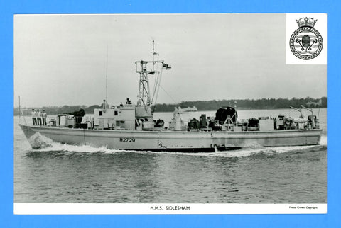 HMS Sidlesham M2729 Unused Postcard by Gale & Polden