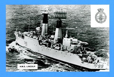 HMS Lincoln F99 Unused Postcard by Gale & Polden