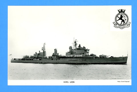 HMS Lion D34 Unused Postcard by Gale & Polden