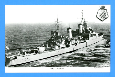 HMS Sheffield C24 Unused Postcard by Gale & Polden