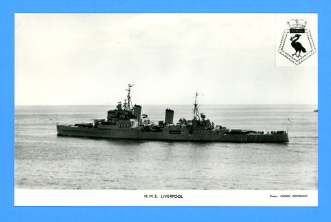 HMS Liverpool C11 Unused Postcard by Gale & Polden