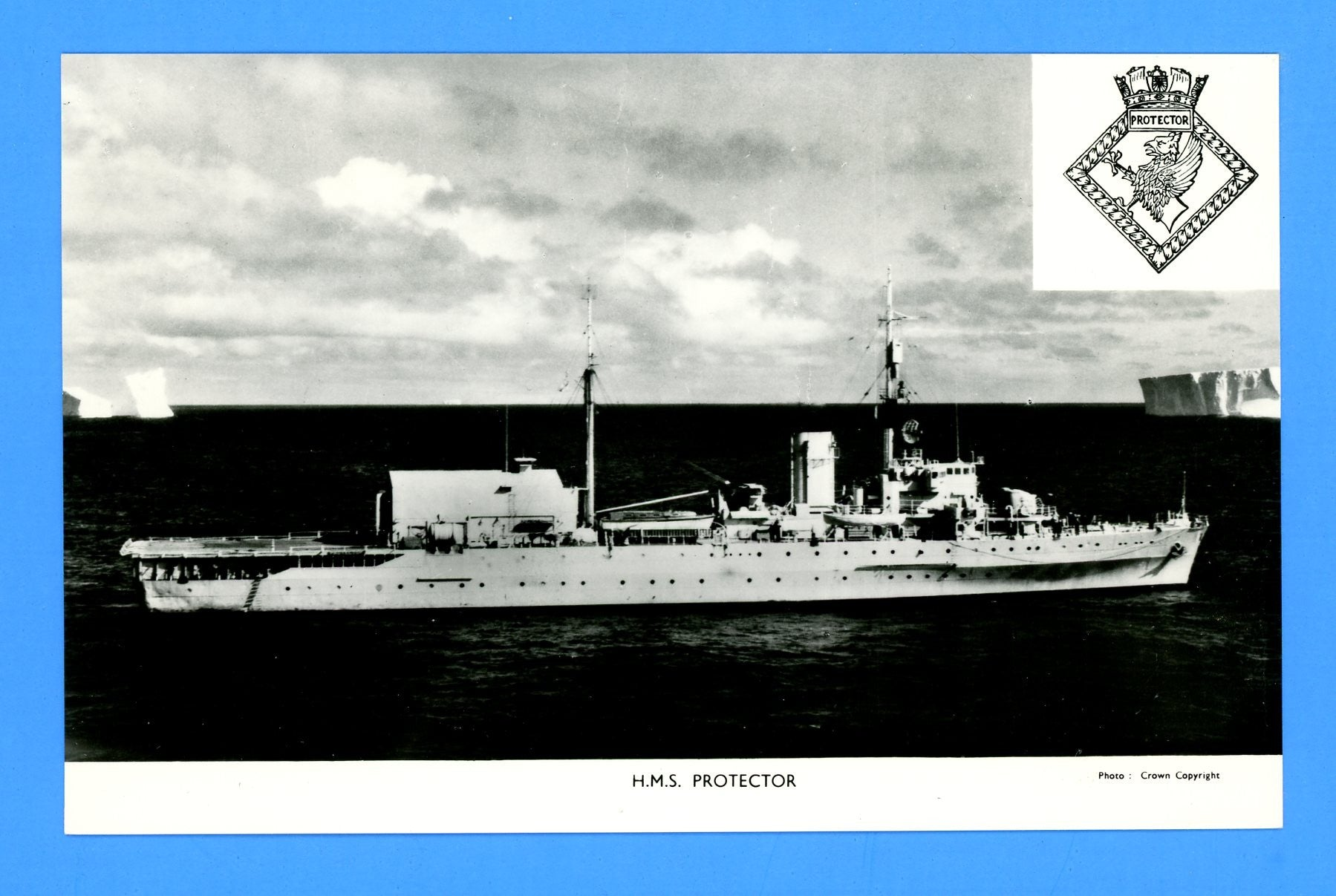 HMS Protector A146 Unused Postcard by Gale & Polden