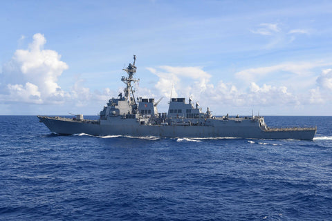 "USS Howard DDG-83 transits Pacific Ocean (June 30, 2017) - 4"" x 6"" Lustre Photograph"