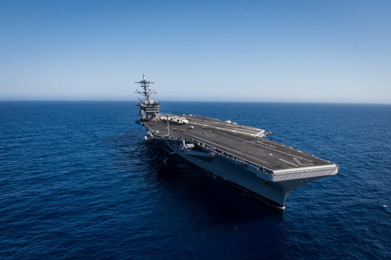 "USS Theodore Roosevelt CVN-71 transits the Pacific Ocean (June 26, 2017) - 4"" x 6"" Lustre Photograph"