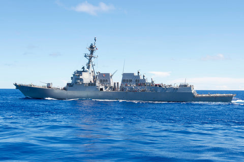 "USS Kidd DDG-100 transits the Pacific Ocean (June 22, 2017) - 4"" x 6"" Lustre Photograph"