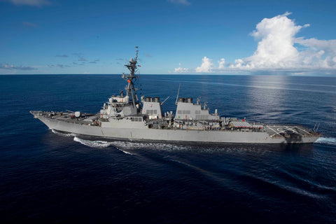 "USS John S. McCain DDG-56 transits PHILIPPINE SEA (June 14, 2017) - 4"" x 6"" Lustre Photograph"