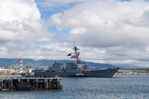 "USS Michael Murphy DDG-112 returns to Joint Base Pearl Harbor-Hickam (June 13, 2017) - 4"" x 6"" Lustre Photograph"