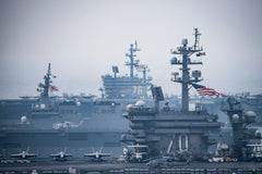 "The Carl Vinson Carrier Strike Group Sea of Japan (June 1, 2017) - 4"" x 6"" Lustre Photograph"