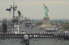 "USS Kearsarge LHD-3 passes the Statue of Liberty Fleet Week New York's Parade of Ships (May 24, 2017) - 4"" x 6"" Lustre Photograph"