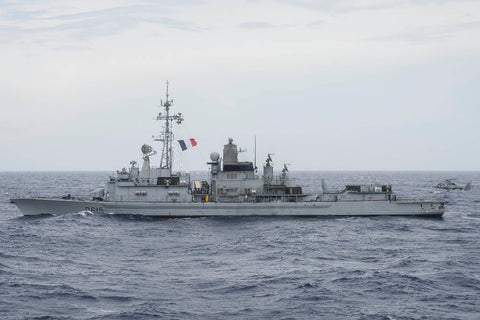"French Navy Cassard-class anti-air frigate FS Jean Bart D615 (May 20, 2017) - 4"" x 6"" Lustre Photograph"