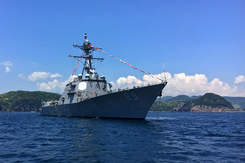 "USS Mustin DDG-89 off Shimoda, Japan during the 78th Black Ship Festival (May 19, 2017) - 4"" x 6"" Lustre Photograph"