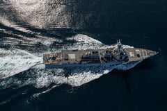 "USS Halsey DDG-97 in a simulated strait transit PACIFIC OCEAN (May 11, 2017) - 4"" x 6"" Lustre Photograph"