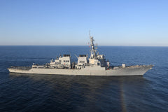 "USS Porter DDG-78 Transits the Mediterranean Sea March 9, 2017 - 4"" x 6"" Photograph"
