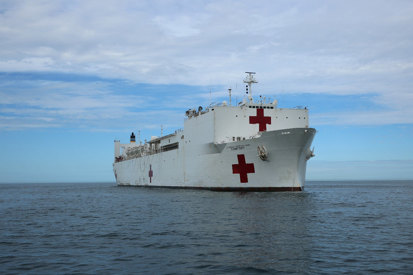 "Military Sealift Command Hospital Ship USNS Comfort T-AH 20 Atlantic Ocean February 23, 2017 - 3 X 5"" Photograph"