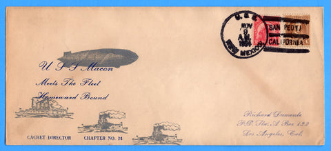 USS Macon ZRS-5 Cancelled USS New Mexico BB-40 Mellone 11/9/34-6 159 Made