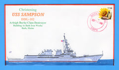 USS Sampson DDG-102 Christening September 14, 2006 - Bill Everett Cachet